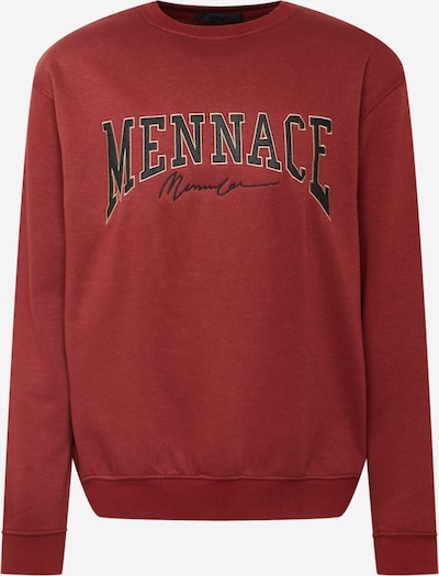 Mennace Sweatshirt in rot / schwarz, Produktansicht