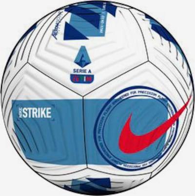 NIKE Fußball in blau / hellblau / neonorange / weiß, Produktansicht