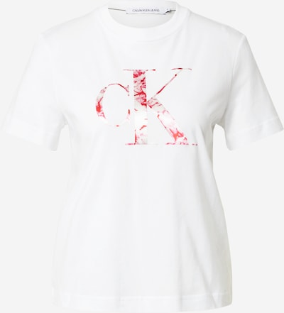 Tricou Calvin Klein Jeans pe roz / roșu / alb, Vizualizare produs