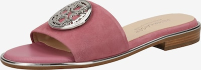 PETER KAISER Pantoletten in pastellrot / silber, Produktansicht