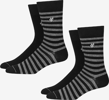 Marc O'Polo Bodywear Socks ' 4-Pack Ringel ' in Black