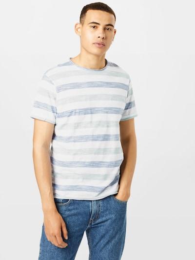 BLEND T-Shirt in blau / weiß: Frontalansicht