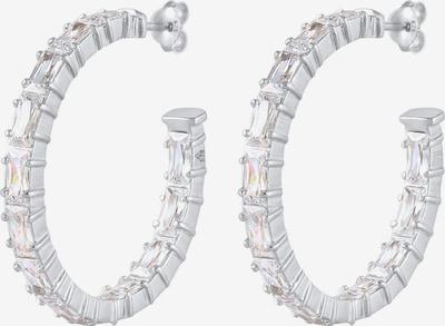 ELLI PREMIUM Ohrringe Kristall Creolen, Rechteck in silber, Produktansicht