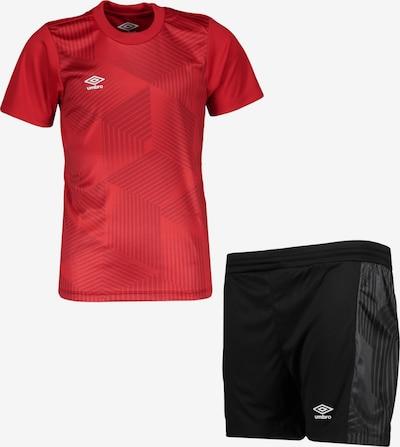 UMBRO Trainingsanzug in rot / schwarz, Produktansicht