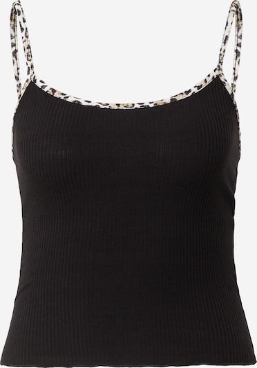 NEW LOOK Top in hellbraun / schwarz / weiß, Produktansicht
