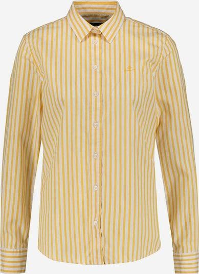 GANT Bluse in gelb / weiß, Produktansicht