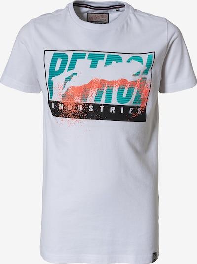 Petrol Industries T-Shirt in grün / jade / hellorange / schwarz / offwhite, Produktansicht