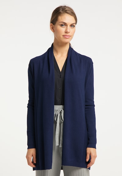 usha BLACK LABEL Cardigan in blau, Modelansicht