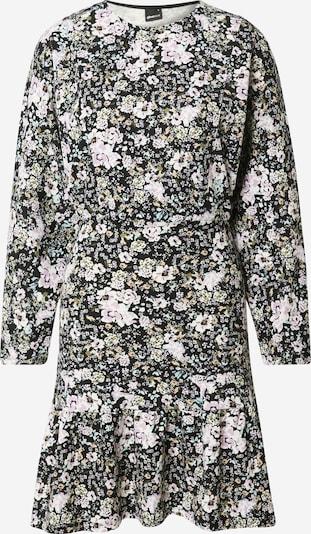Gina Tricot Kleid 'Ellen' in khaki / pastelllila / helllila / schwarz / weiß, Produktansicht