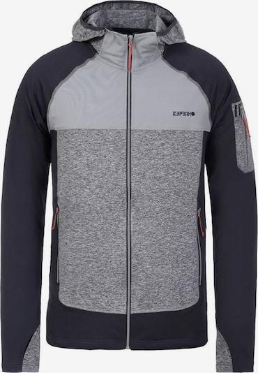 ICEPEAK Jacke 'Berkshire' in grau / graumeliert / schwarz, Produktansicht