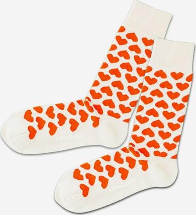 DillySocks Socken in creme / feuerrot, Produktansicht