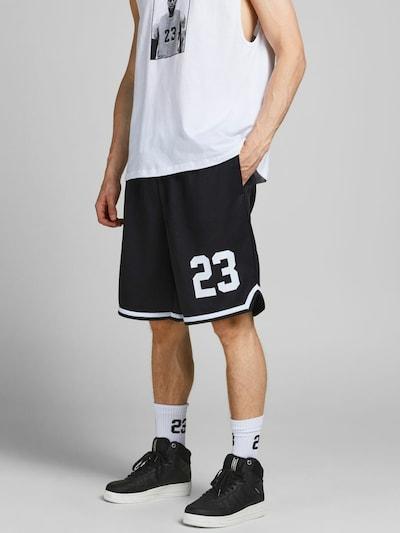 Pantaloni JACK & JONES pe negru / alb, Vizualizare model
