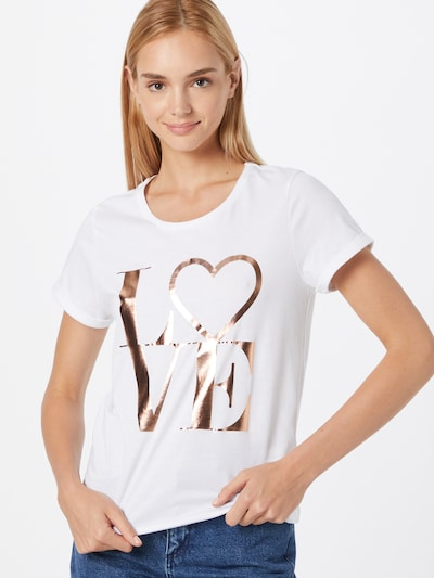 ABOUT YOU Shirt 'Jarina' in Gold / White: Frontal view