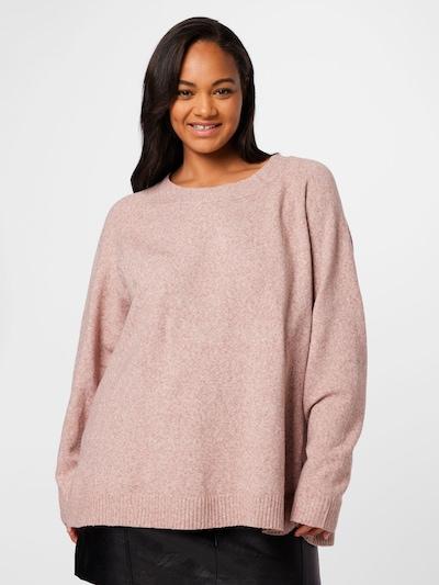 Zizzi Pullover 'SUNNY' in rosa, Modelansicht