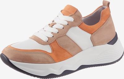 GABOR Sneaker in creme / braun / orange / schwarz, Produktansicht