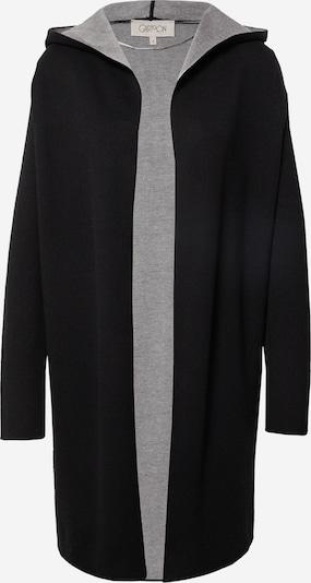 Cartoon Strickjacke in graumeliert / schwarz, Produktansicht