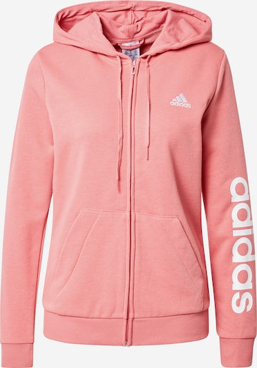 ADIDAS ORIGINALS Sportsweatjacke in rosa / weiß, Produktansicht