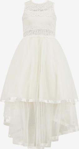Prestije Blumenmädchenkleid in Weiß