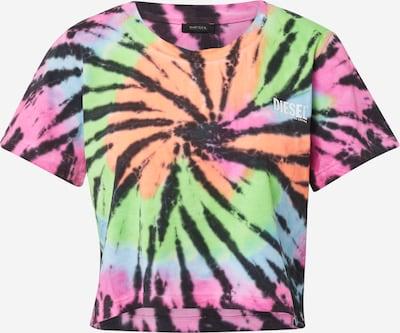 DIESEL T-shirt 'BFOWT-TAIS' en kiwi / rose / noir / blanc, Vue avec produit