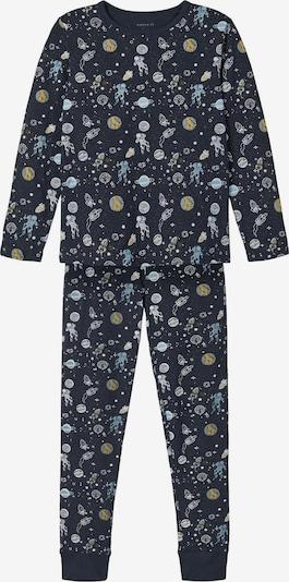 NAME IT Pidžama set u opal / tamno plava / senf / kaki / bijela, Pregled proizvoda