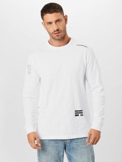 Marškinėliai iš G-Star RAW , spalva - juoda / balta: Vaizdas iš priekio