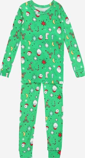 GAP Pidžama set u smeđa / žuta / zelena / crvena / bijela, Pregled proizvoda