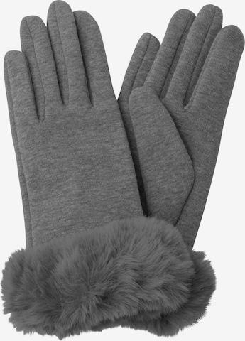 HALLHUBER Full Finger Gloves in Grey