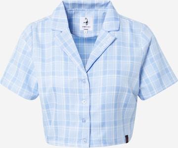VIERVIER Bluse 'Lena ' in Blau