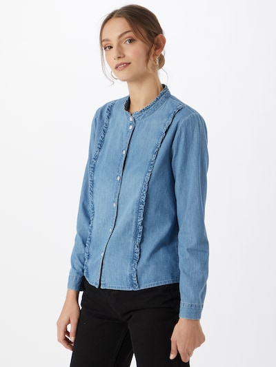 JACQUELINE de YONG Blouse in Blue denim, View model