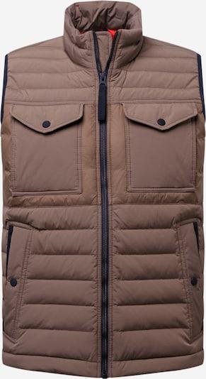 BOSS Casual Bodywarmer 'Olmarv' in de kleur Beige / Kaki, Productweergave