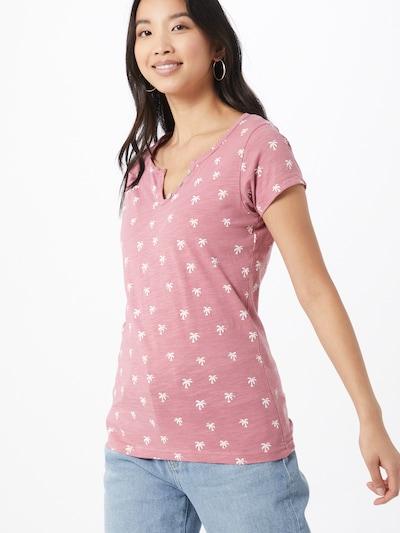 Stitch and Soul Koszulka w kolorze różowy pudrowy / białym: Widok z przodu