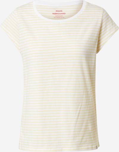 MADS NORGAARD COPENHAGEN Shirt in de kleur Lichtgeel / Wit, Productweergave