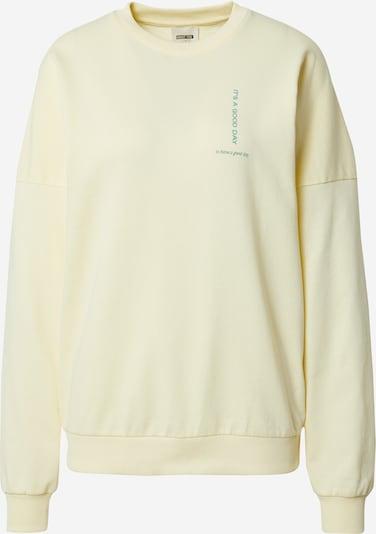 ABOUT YOU x Laura Giurcanu Sweatshirt 'Luca' in pastellgelb, Produktansicht