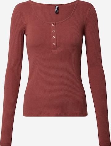PIECES Tričko 'Kitte' - Červená