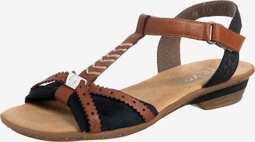 Sandales à lanières RIEKER en marron