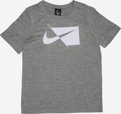 NIKE T-Shirt in graumeliert / weiß, Produktansicht