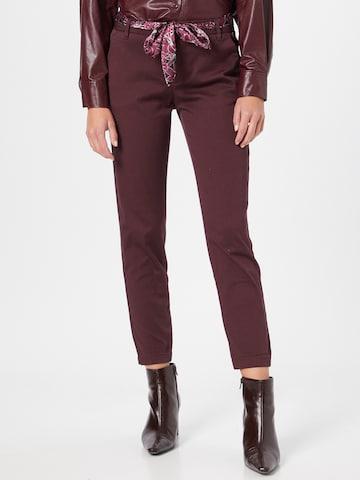 FREEMAN T. PORTER Chino-püksid 'Claudia', värv punane