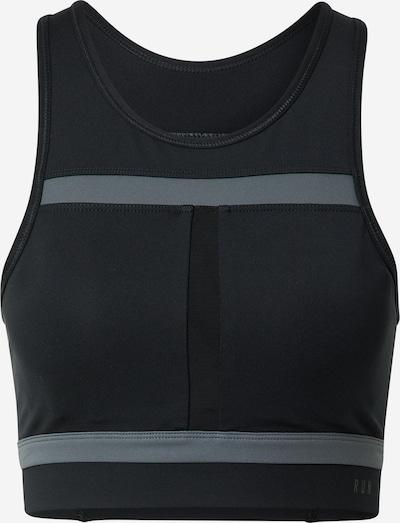 NIKE Sport bh 'Swoosh Run Division' in de kleur Grijs / Zwart, Productweergave