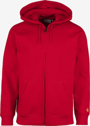 Carhartt WIP Hooded Zipper 'Chase' in rot, Produktansicht