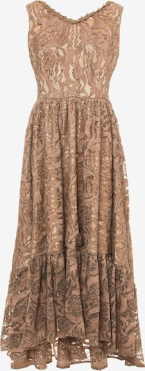 Madam-T Jurk 'Florentina' in de kleur Bruin, Productweergave