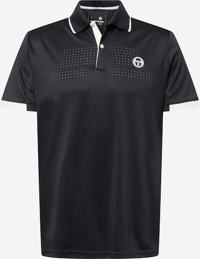 Sergio Tacchini Sportshirt in dunkelgrau / weiß, Produktansicht