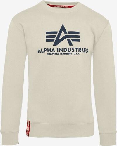 ALPHA INDUSTRIES Sweatshirt in beige, Produktansicht