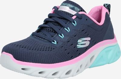 SKECHERS Sneaker low 'GLIDE STEP' i navy / lyserød / hvid, Produktvisning