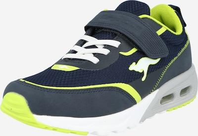 KangaROOS Sneaker in navy / gelb, Produktansicht