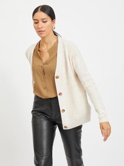 VILA Strickjacke 'Oktavi' in beige, Modelansicht