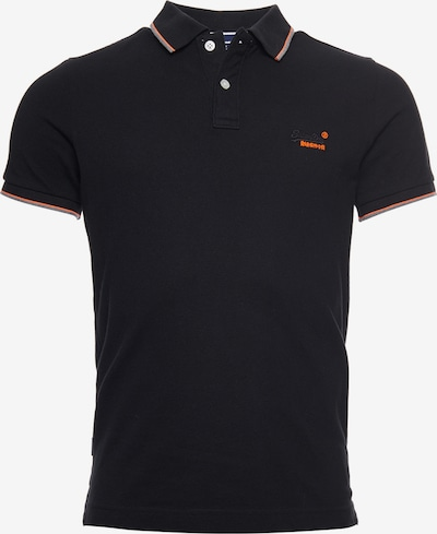 Superdry Polohemd in grau / orange / schwarz, Produktansicht
