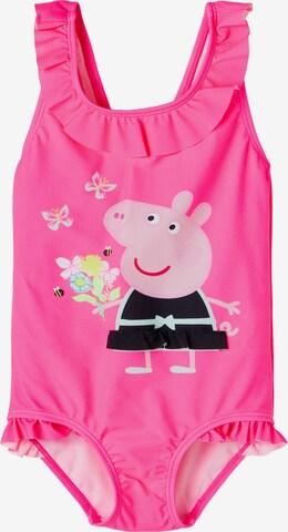 NAME IT Badeanzug 'PEPPAPIG' in Pink