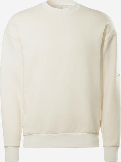 Reebok Sport Спортен блузон с качулка в естествено бяло: Изглед отпред