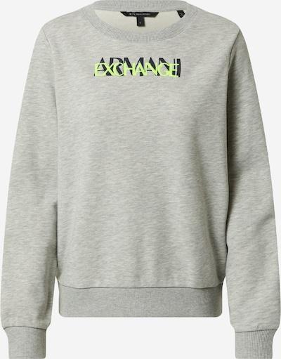 ARMANI EXCHANGE Sweatshirt 'KYM' in de kleur Grijs / Lichtgroen / Zwart, Productweergave