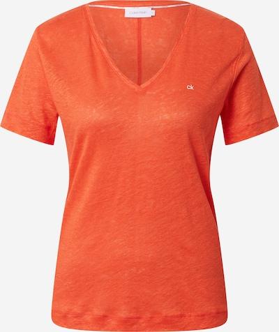 Calvin Klein T-Shirt in orangemeliert, Produktansicht